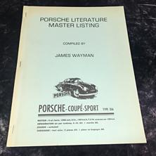 Porsche Literature Master Listing